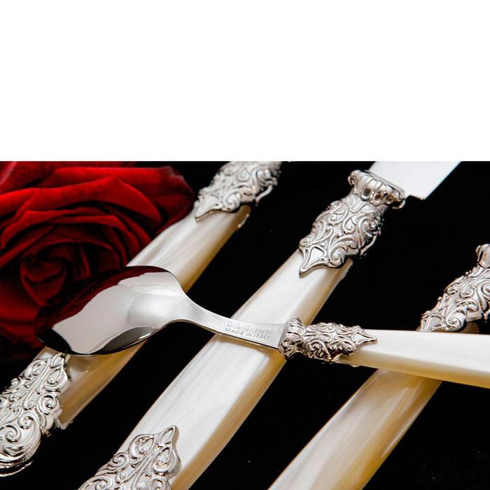 Набор столовых приборов на 6 персон Domus&Design Версаль бежевого цвета