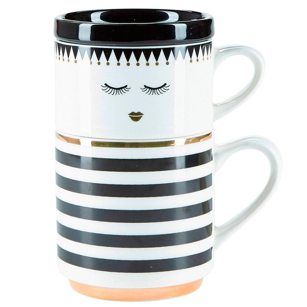 Набор из двух чашек Miss Etoile Closed eyes