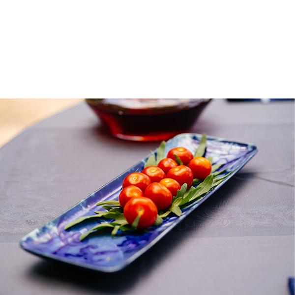 Блюдо прямоугольное Costa Nova Lisboa 36.8х12.2х2.8см синее