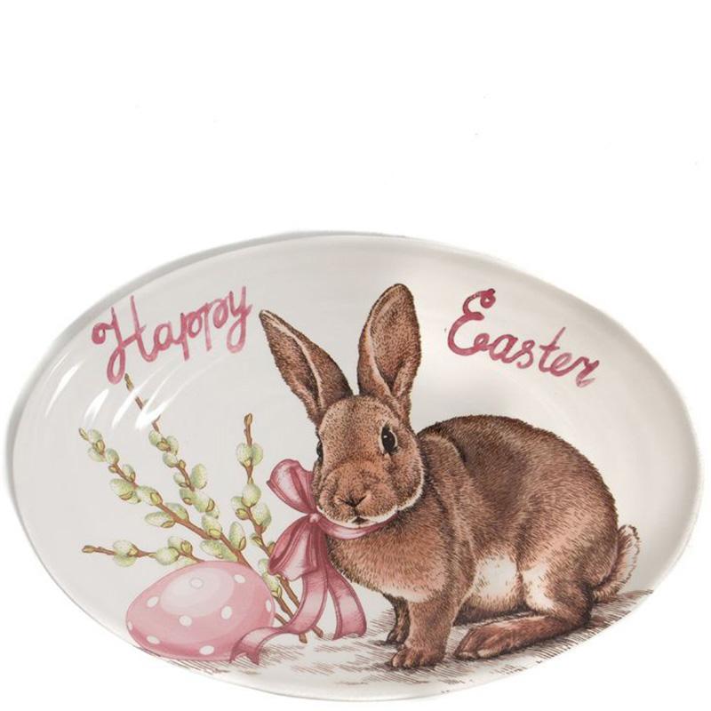 Блюдо Ceramica Cuore Пасхальный кролик
