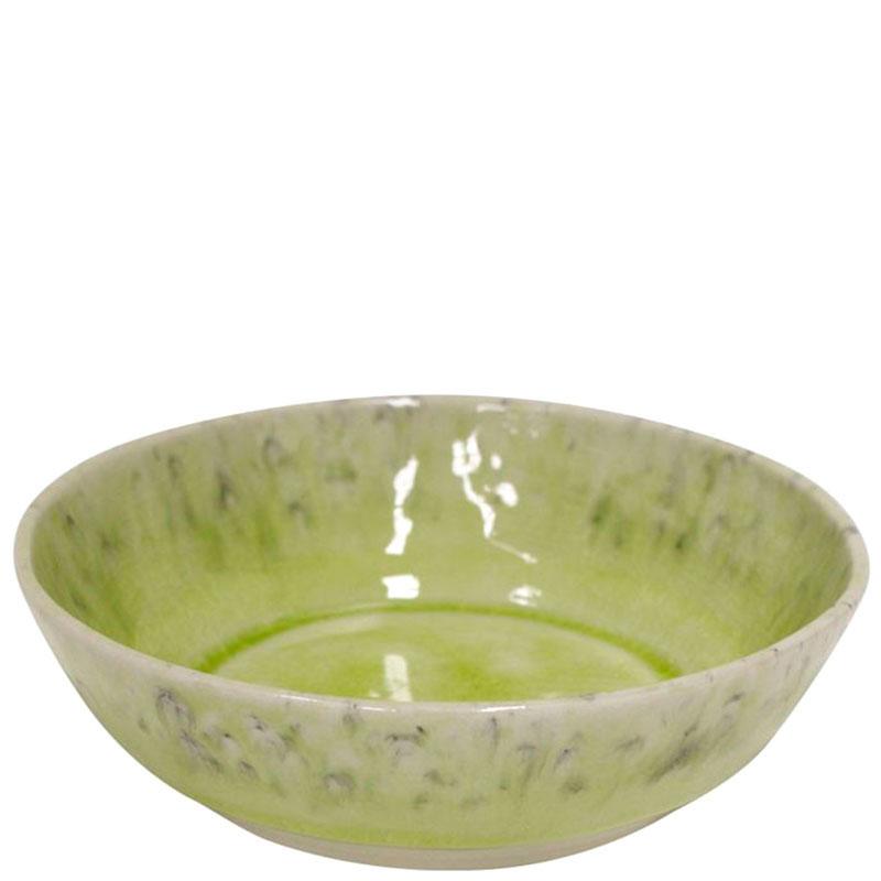 Керамическая тарелка Costa Nova Madeira салатового цвета