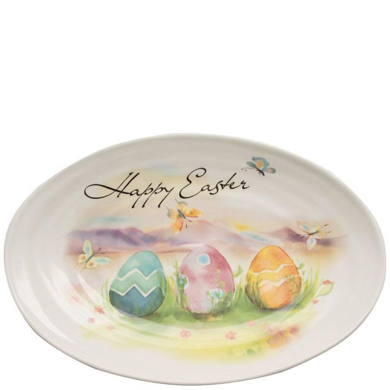 Блюдо овальное Ceramica Cuore Счастливой Пасхи