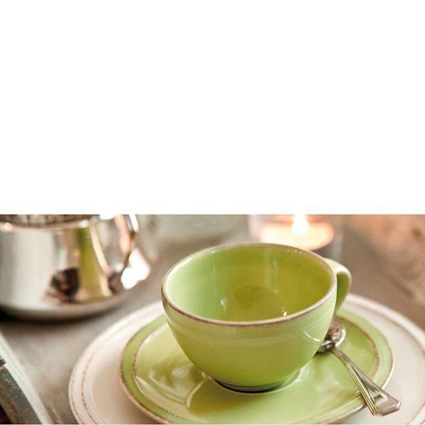 Чайная пара Costa Nova Friso зеленого цвета