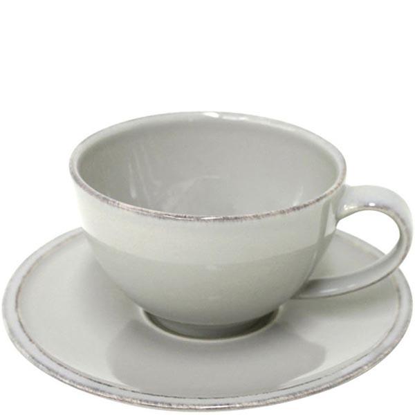 Набор из 6 чайных чашек с блюдцами Costa Nova Friso серого цвета