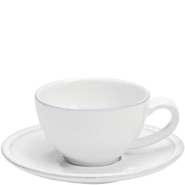 Набор из 6 кофейных чашек с блюдцами Costa Nova Friso белого цвета