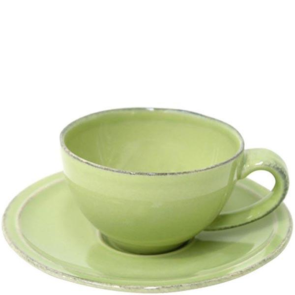 Набор из 6 кофейных чашек с блюдцами Costa Nova Friso зеленого цвета
