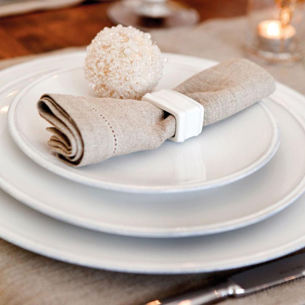 Держатель для столовой салфетки Costa Nova Friso белого цвета