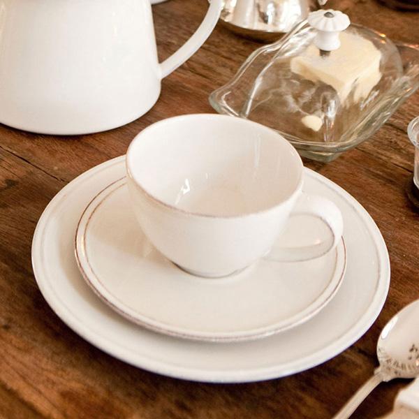Набор из 6 тарелок для салата Costa Nova Friso белого цвета 22см