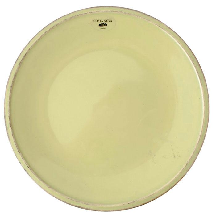 Мелкая тарелка Costa Nova Friso из керамики зеленого цвета