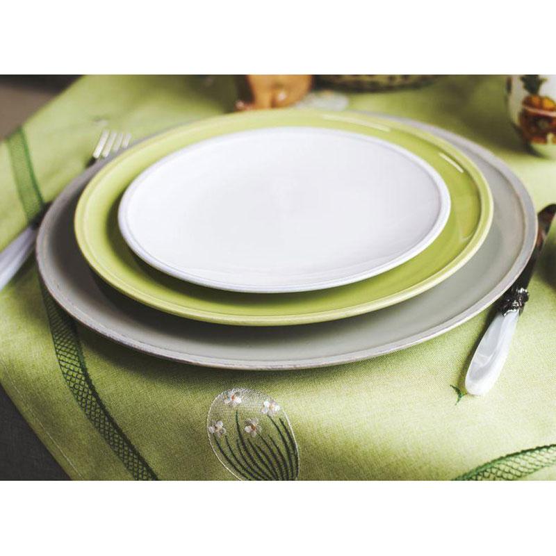 Тарелка зеленая обеденная Costa Nova Friso 28см