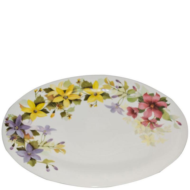 Блюдо овальное Ceramica Cuore Цветочное настроение