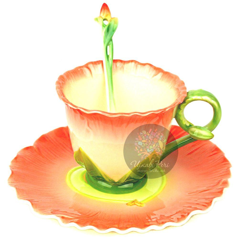 Набор Торения: чашка, блюдце, ложечка Pavone