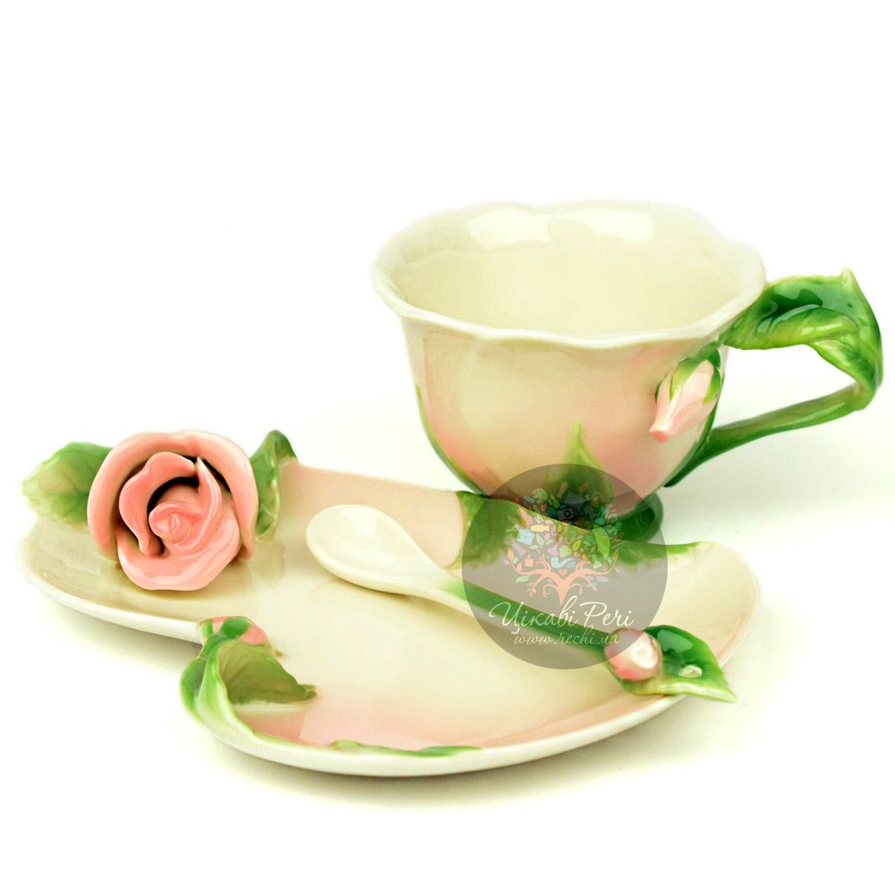 Набор Роза: чашка блюдце ложечка Pavone