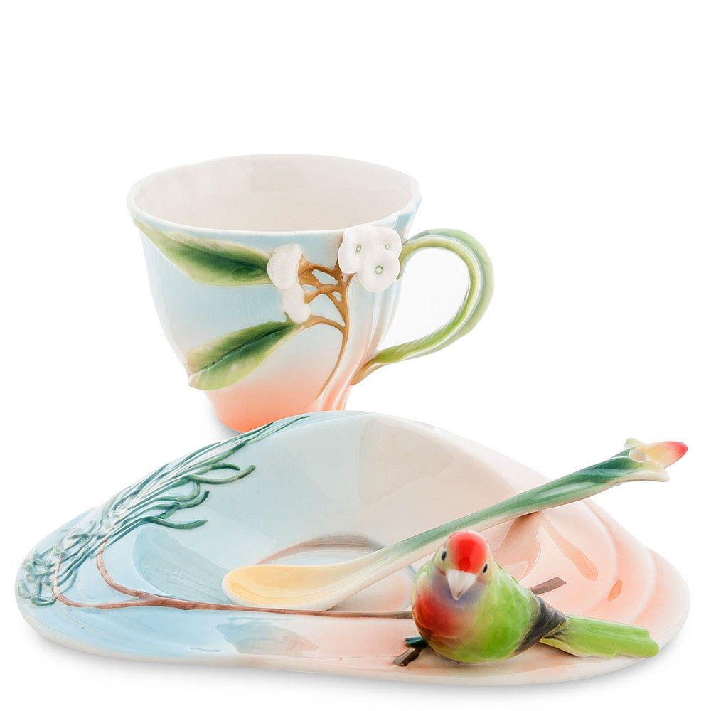 Чайная пара Pavone Попугай Розелла