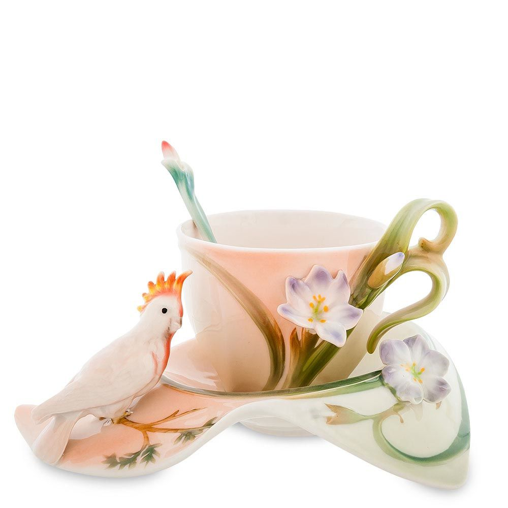 Чайная пара Pavone Попугай Какаду