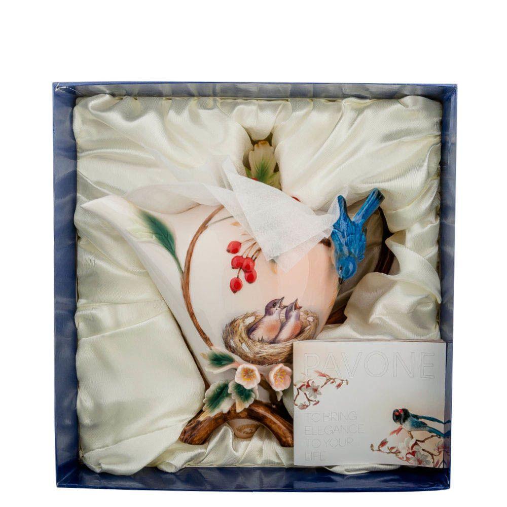 Заварочный чайник Pavone Голубые птицы