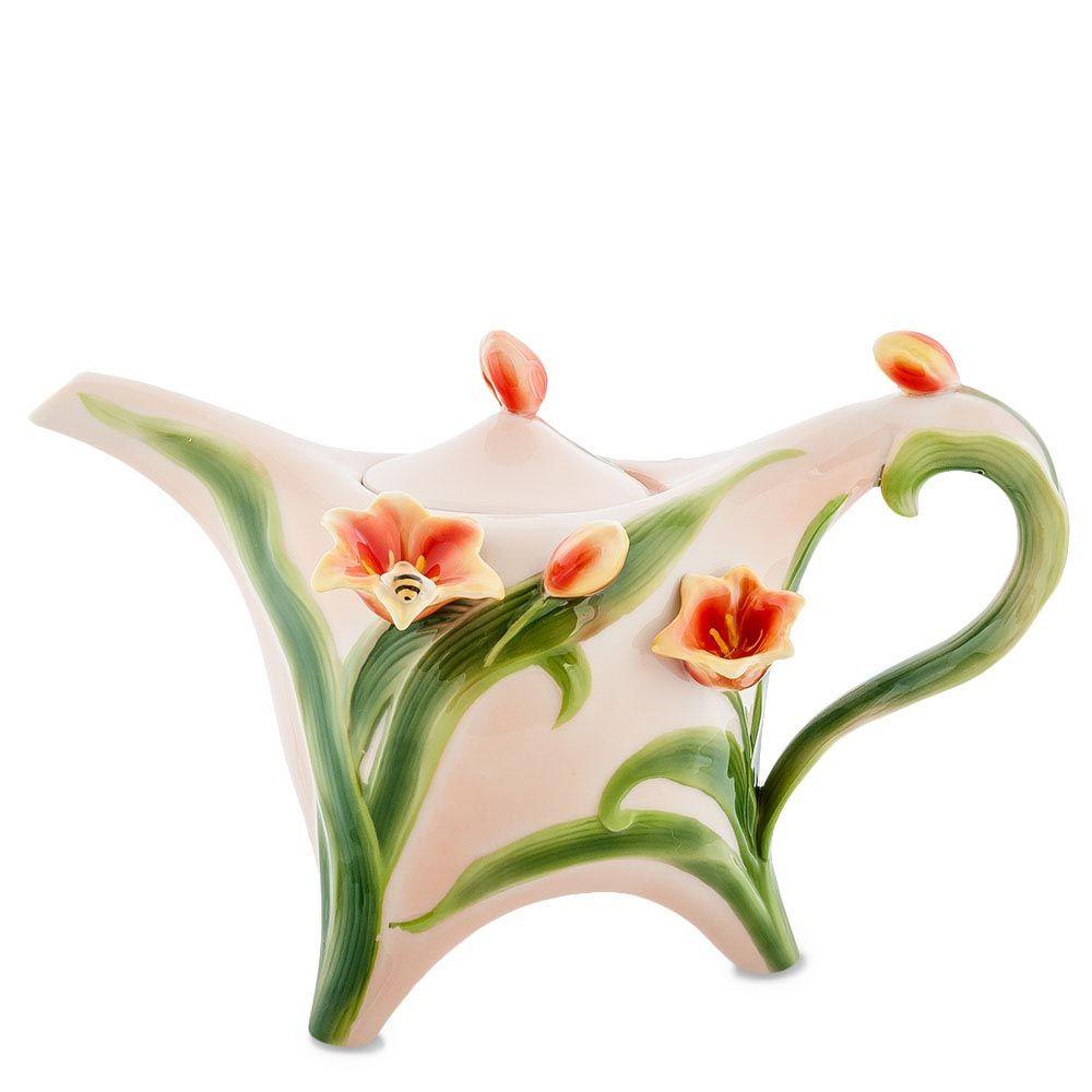 Заварочный чайник Pavone Тюльпаны