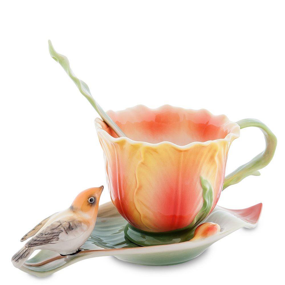 Чайная пара Pavone Тюльпаны
