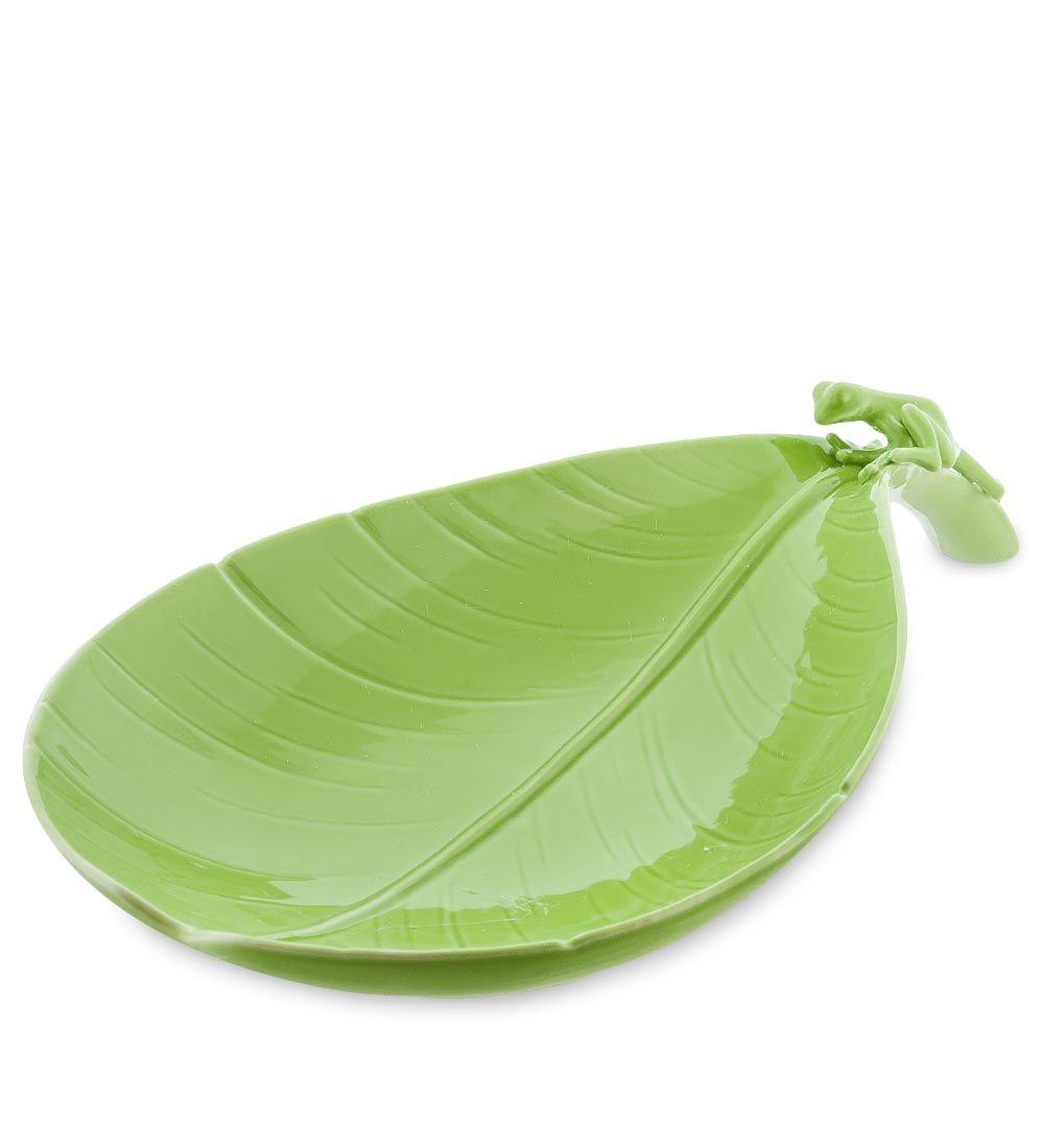 Фруктовница Pavone Тропические лягушки зеленого цвета