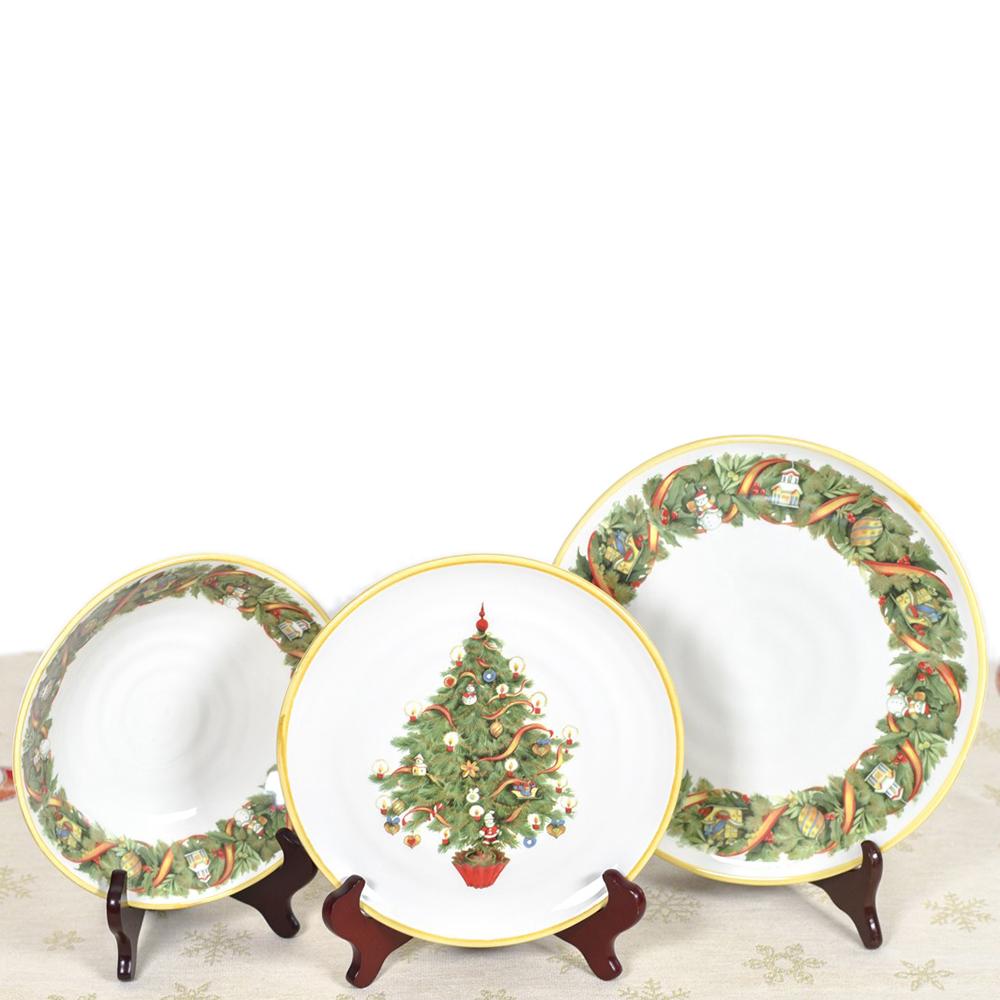 Салатник Villa Grazia Яркое Рождество 23см