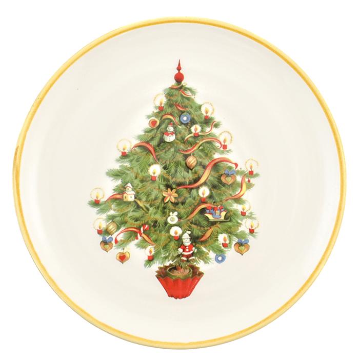 Набор салатниц Villa Grazia Яркое Рождество на 6 персон