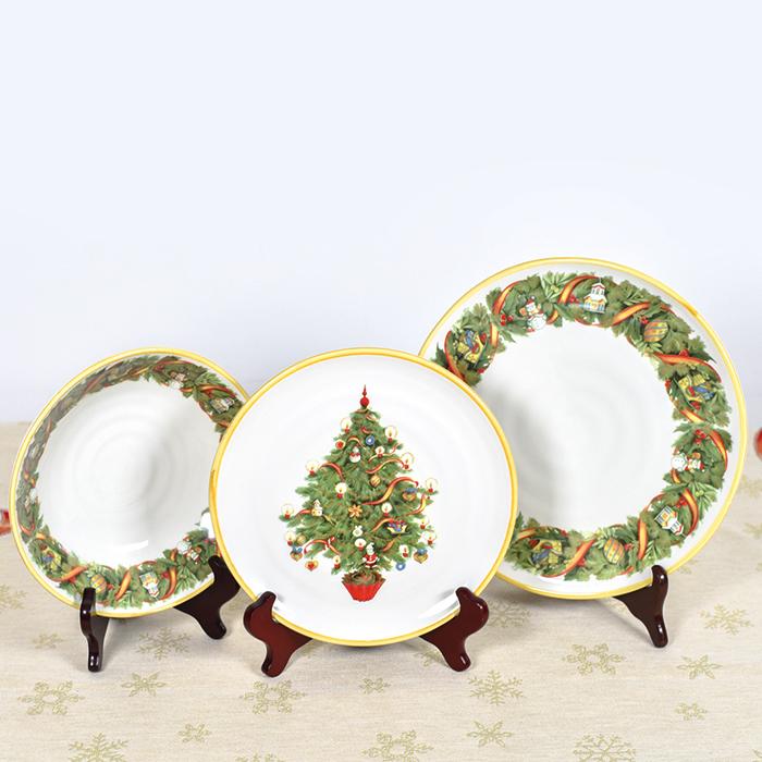 Набор тарелок для супа Villa Grazia Яркое Рождество на 6 персон