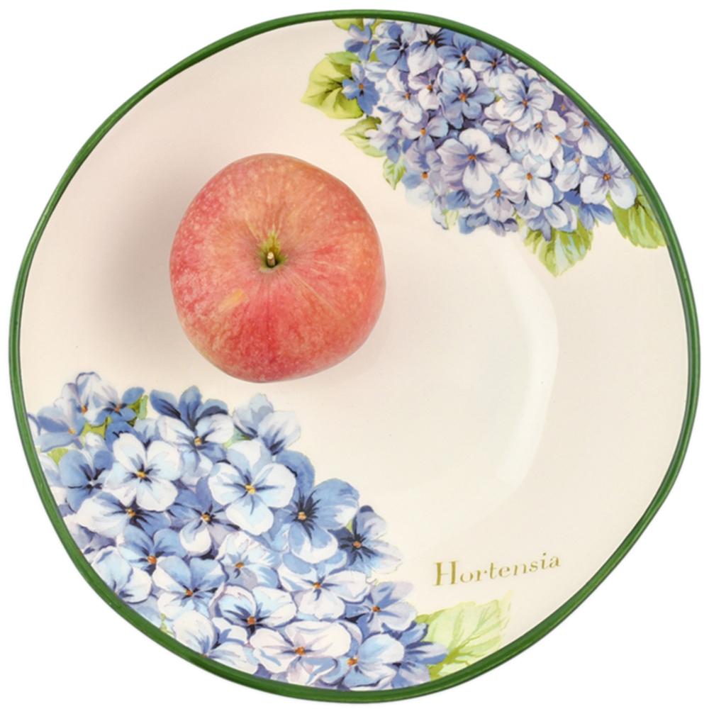 Тарелка для супа Villa Grazia Голубая гортензия 22см