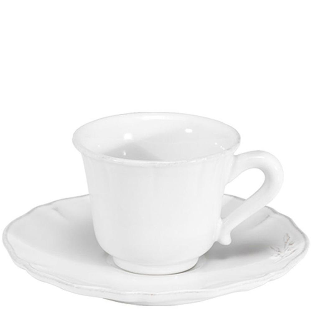 Чашка с блюдцем для чая Costa Nova Alentejo белая 220мл
