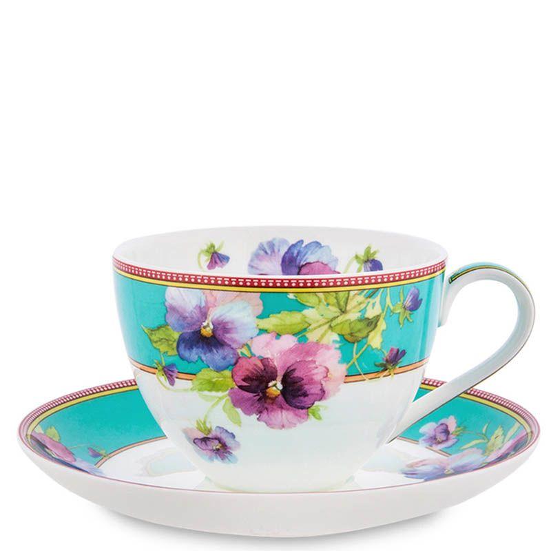 Чайный набор Pavone из фарфора на две персоны Viola