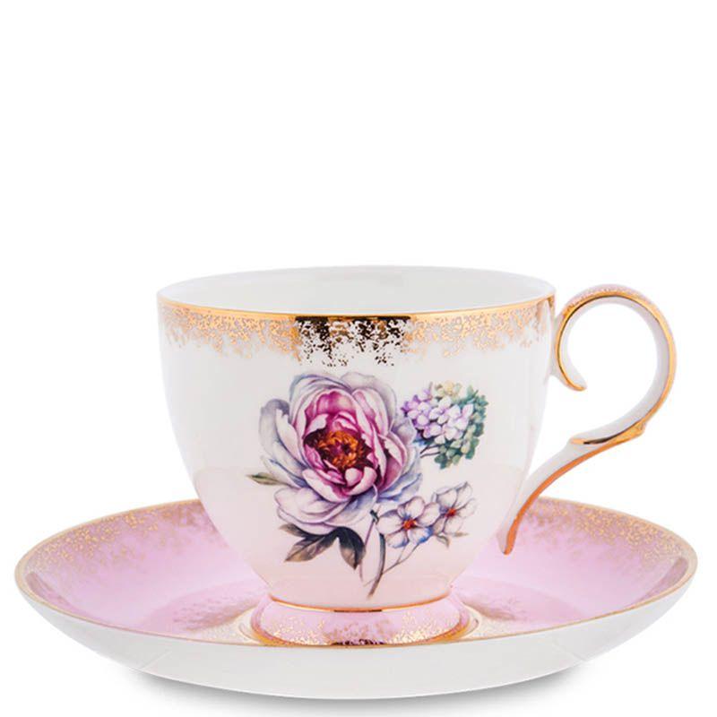 Чайный набор Pavone на шесть персон Цветок Неаполя из фарфора