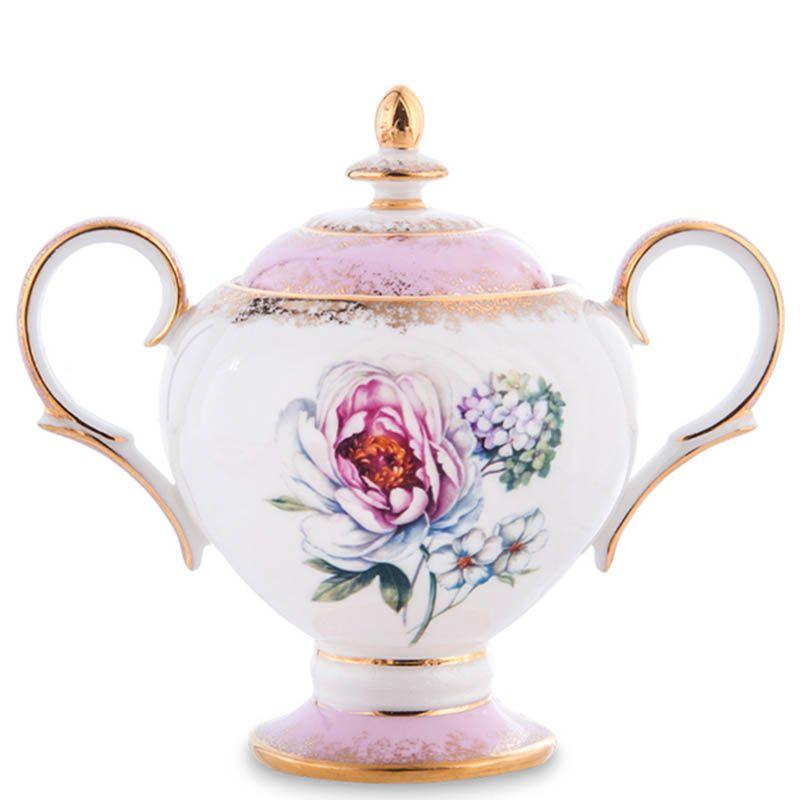 Чайный сервиз Pavone для шесть персон Цветок Неаполя из фарфора