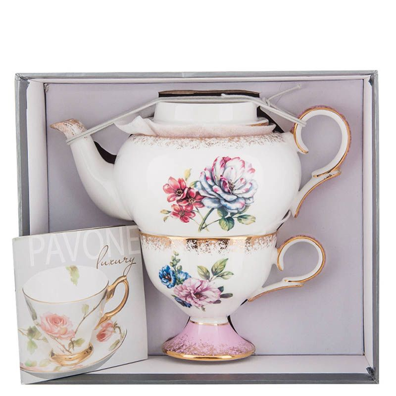 Чайный набор Pavone Цветок Неаполя из фарфора
