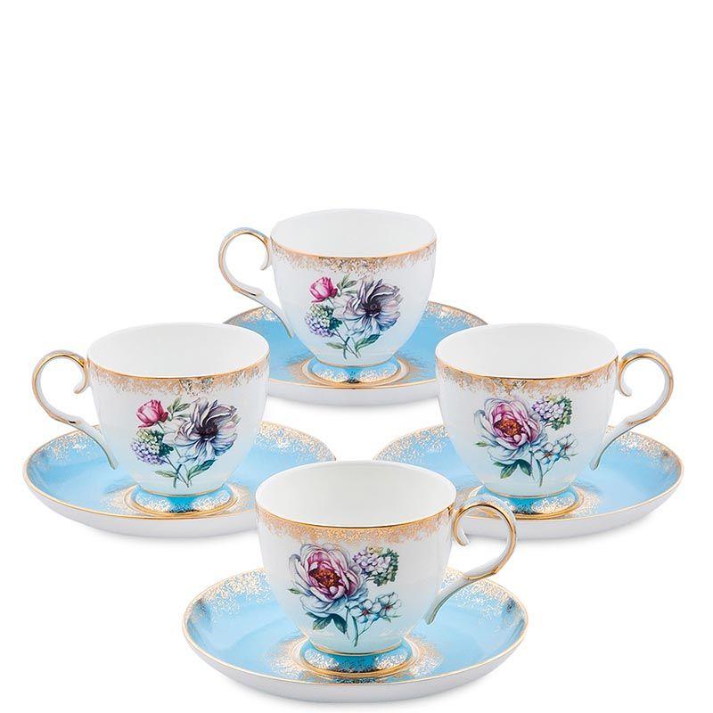 Чайный набор Pavone на четыре персоны Цветок Неаполя