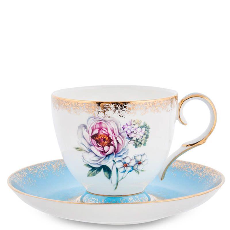 Чайный сервиз Pavone на шесть персон Цветок Неаполя из фарфора
