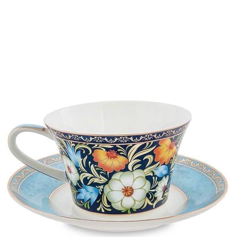 Чайный набор Pavone на две персоны Цветочный джаз