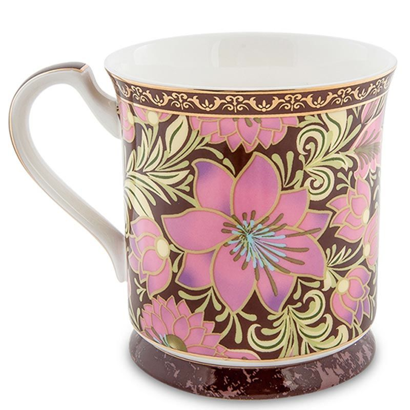 Чашка Pavone Цветочный джаз розового цвета
