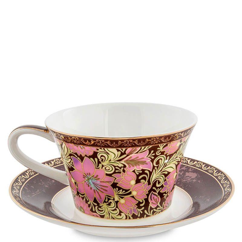 Чайный дуэт Pavone Цветочный джаз с росписью