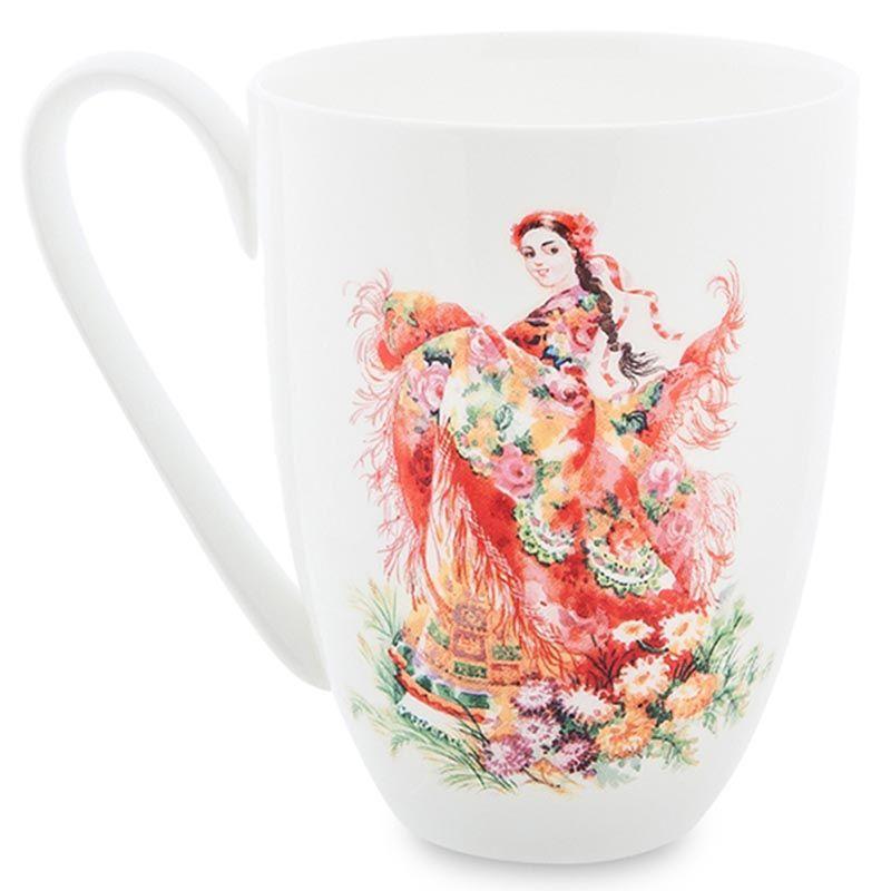 Чашка Pavone Bellezza Slava с рисунком