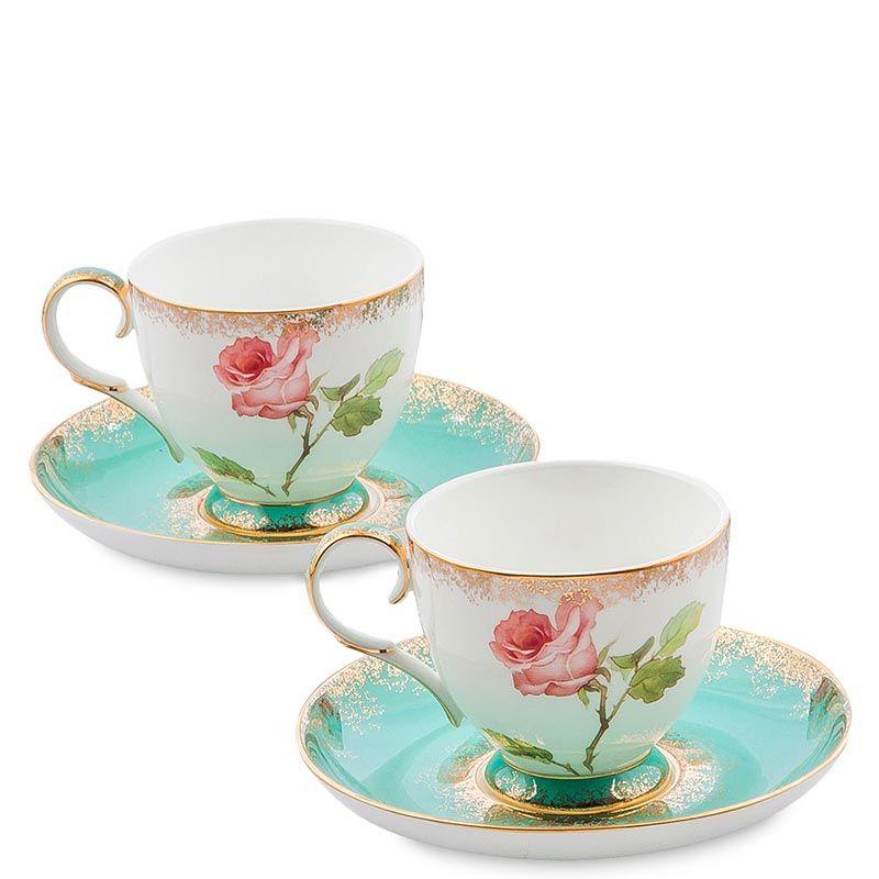 Чайный набор Pavone Milano Rose на две персоны