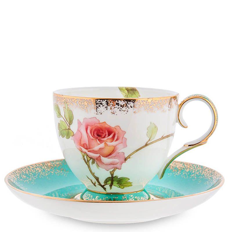 Чайный набор Pavone Milano Rose на шесть персон