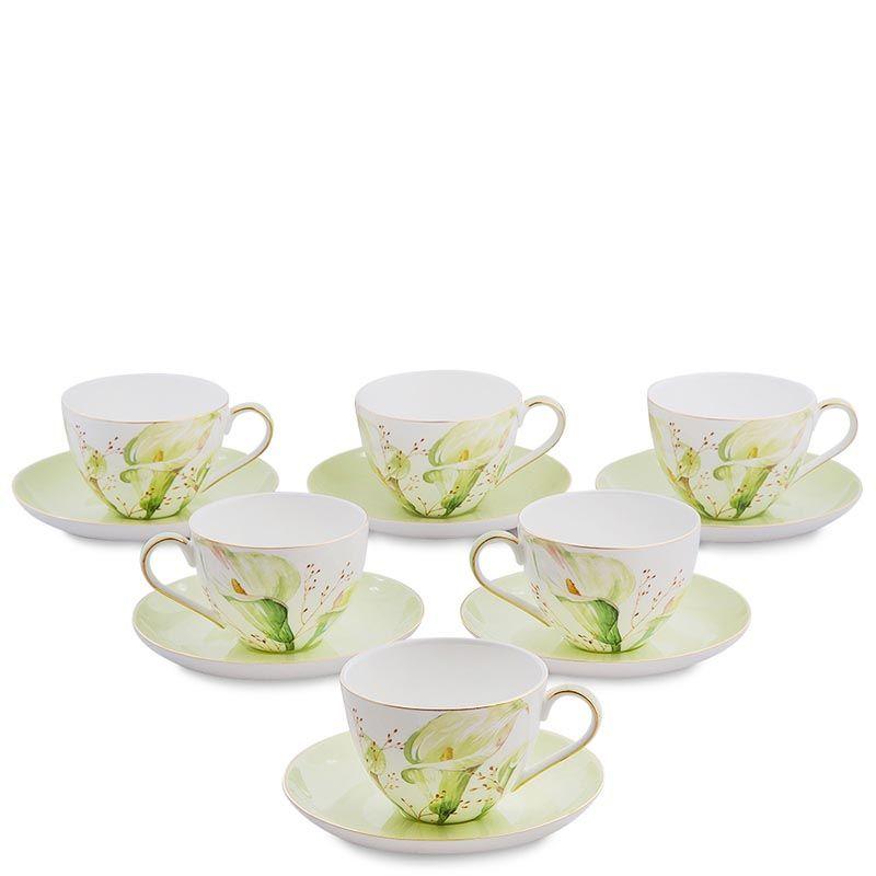 Чайный набор на шесть персон Pavone Calla Charme