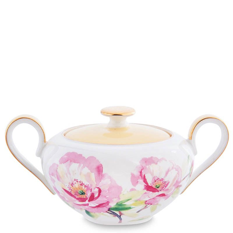 Чайный сервиз Pavone Torino Peony из фарфора на шесть персон