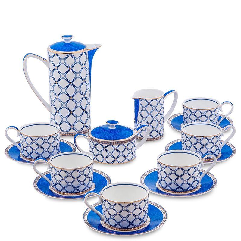 Чайный сервиз Pavone на шесть персон Eleganza из фарфора