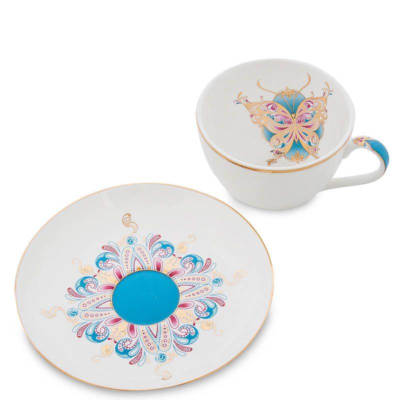 Чайный набор Pavone из фарфора на две персоны Песня Мотылька
