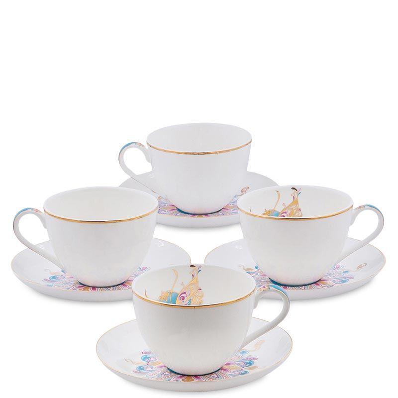 Чайный набор Pavone на четыре персоны Песня Мотылька