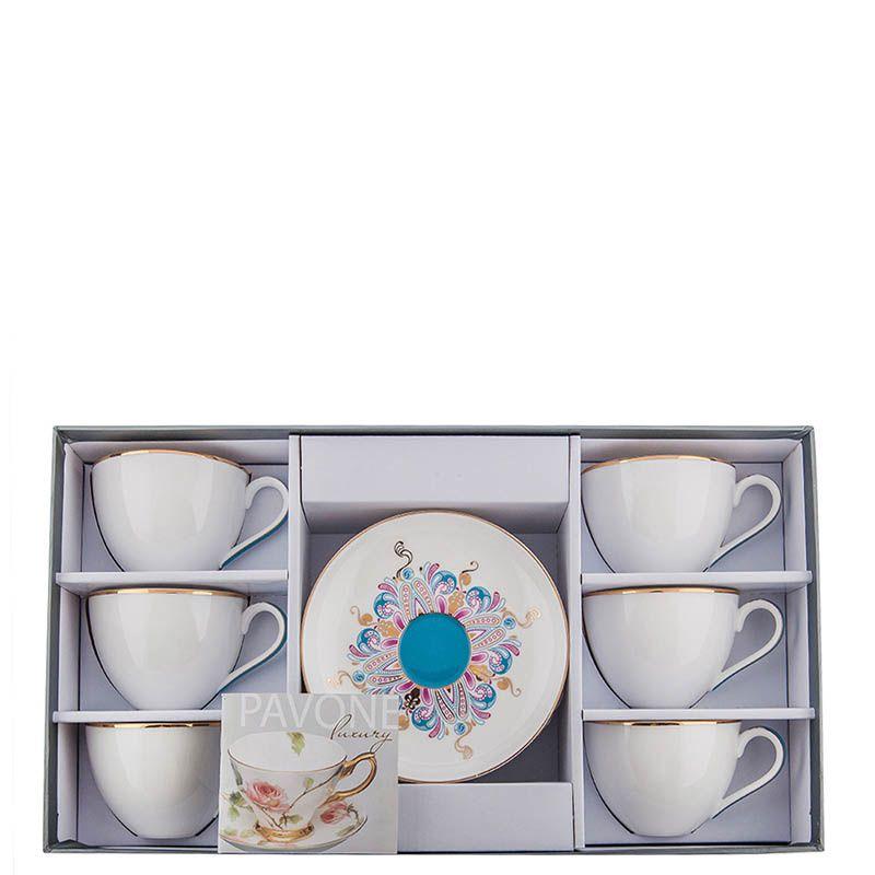 Чайный набор Pavone на шесть персон Песня Мотылька