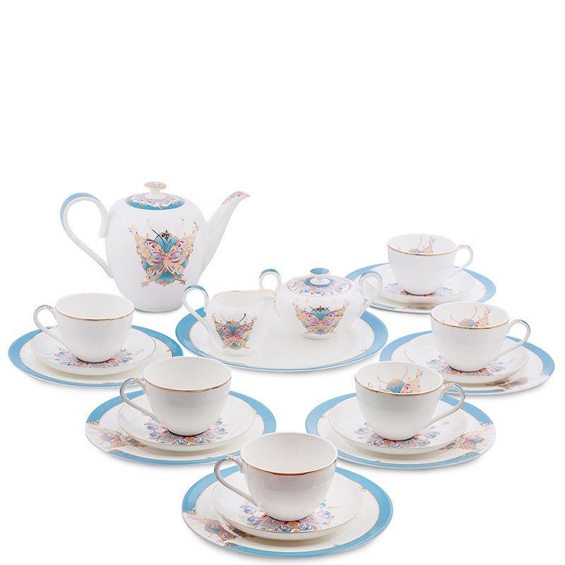 Чайный сервиз Pavone из фарфора на шесть персон Песня Мотылька