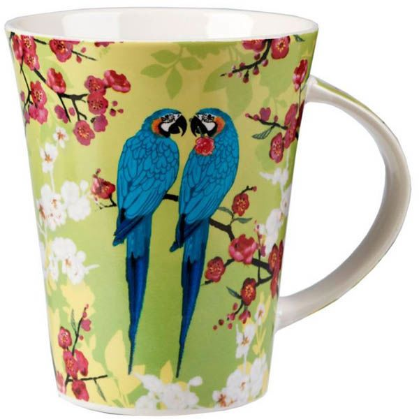 Чашка Churchill Queens объемом 0.37 л цветная с попугаями