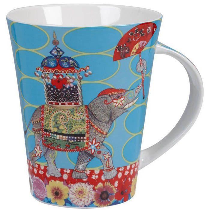 Чашка Churchill Queens объемом 0,37 л с рисунком индийского слона