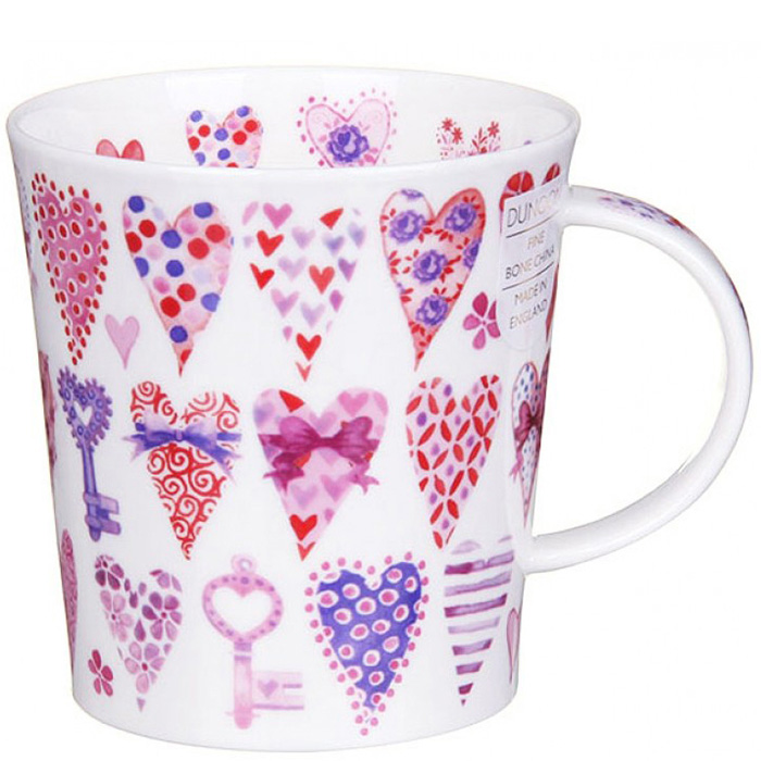 Чашка Dunoon Lomond Hearts Pink 0,32 л